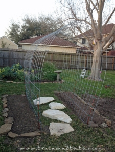 A DIY Pea tunnel idea from theselfsufficientliving.com